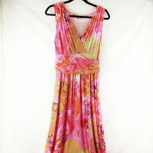 Jennifer Lopez Pink floral  Maxi Dress
